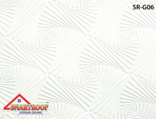 PVC Gypsum Ceiling Tiles SR-006
